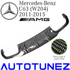 Carbon Fiber Rear Diffuser Fr Mercedes C63 AMG W204 Facelift Coupe Sedan C Class