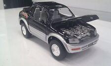 TOYOTA RAV4 Cabriolet NERO KINSMART auto giocattolo modello 1/32 Scala Diecast