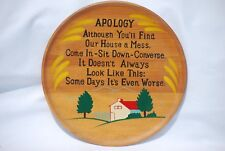 "Norcrest Japan 9"" Wooden ""Apology"" Plate"