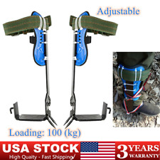 Adjustable 2 Gears Tree Climbing Spike Climber Belt Safety Strap Rescue Rope
