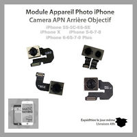 MODULE APPAREIL PHOTO CAMERA ARRIERE IPHONE 5/5S/5C/SE/ 6/ 6P/ 6S/ 6SP/ 7/ 7P/ X
