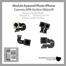 MODULE APPAREIL PHOTO CAMERA ARRIERE IPHONE 5/5S/5C/SE/ 6/ 6P/ 6S/ 6SP/ 7/ 7P/ X