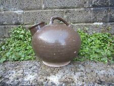 Antique Chinese brown glaze ewer water jug - Qing dynasty ceramic