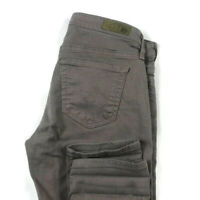 AG Adriano Goldschmied 25 R Brown The Stevie Ankle Slim Straight Ankle Jeans