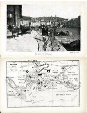 Corse Bastia 1929 plan ville photos + guide (10 p) Vieux Port quartiers projetés
