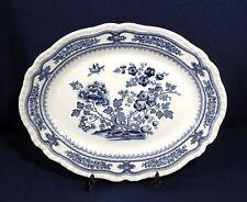 "Vintage Antique Mason's Blue Willow China MANCHU Oval Serving Platter 15-5/8"""