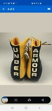 Under Armour Highlight Clutchfit Mc Football Cleats Navy Blue and Gold size 11.5