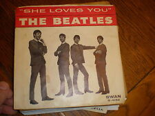 The Beatles 45/PICTURE SLEEVE She Loves You SWAN
