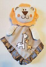Small Wonders Lion Baby Security Blanket Brown Tan Satin Giraffe Rattle