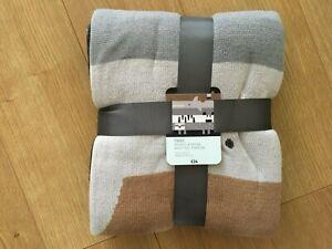 Next Children's Mono Animal Knitted Throw/Blanket 120x150cm - BNWT
