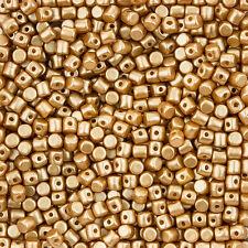 Minos® par Puca® Czech Glass Barrel Beads 2.5x3mm Pastel Amber 9g (L102/7)