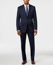 Alfani Men's Slim Fit Sport Coat Solid Blue 2 Button Jacket Blazer 36 S