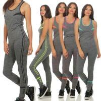 Damen Yoga Sport Set Zweiteiler Fitness Hose Trainingsanzug Leggings Gr. S - XL,