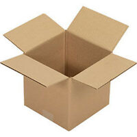 "Cardboard Packing Boxes 9"" x 9"" x 9"" Single Wall Corrugated Cardboard Box"