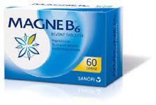 Magne B6 SANOFI 48mg magnesium+5mg Vitamin B6 60 tablets
