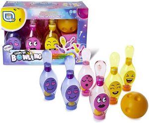 Light Up Bowling Game LED Skittles Set Childrens Kids Present Boys Girls
