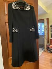 New listing Vintage Pauline Trigere Wool Coat with Rhinestones, size believed to be 6-8
