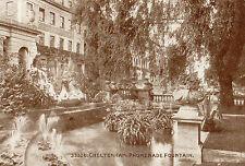 OLD POSTCARD - GLOUCESTERSHIRE - Cheltenham Promenade Fountain -Photochrom 33326