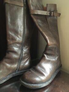 TRIPPEN Brown 39 Luxury Quality German Leather Winter Lagenlook  Boots UK 6.5-7