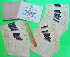 1960 A.E.A. FOREIGN CAR TUNE-UP CHARTS 31 CARDS Plus WIRING DIAGRAMS BOOK + ENVL