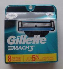 New Gillette Mach 3 8 Cartridges
