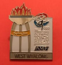 WEST WYALONG Sydney 2000 Olympic Torch Relay AMP sponsor pin