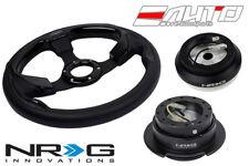 NRG 320mm Pilota Leather Black IN steering wheel w/ 110H Hub Gen2.5 BK Release