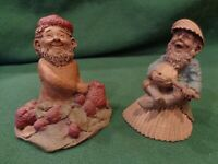 Lot of 2 Tom Clark Gnome Patch with Strawberries #38 & Jacques #98 1985