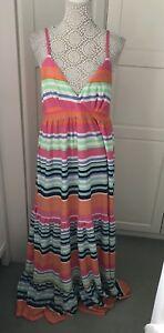 BNWT Uttam Boutique Debenhams Striped maxi dress size 16 UK Holidays Beach 🏝
