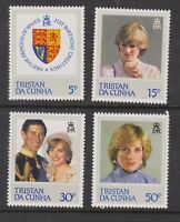 1982 Princess Diana 21st Birthday MNH Stamp Set Tristan Da Cunha SG 327-330