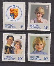 1982 Princess Diana 21st Birthday MNH Stamp Set Tristan Da Cunha SG 327-330
