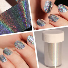 1 Roll Laser Holographic Starry Nail Foil Shimmer Manicure Transfer Sticker Tips