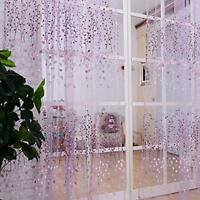 Romantic Floral Tulle Voile Door Window Curtain Drape Panel Sheer Valances KV