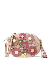 NWT MICHAEL Michael Kors Ginny Medium Floral Messenger Bag Pink Flowers