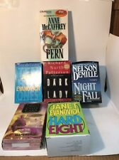 MIXED LOT OF 6 AUDIO BOOK CASSETTE TAPES HARD EIGHT, DARK LADY, NIGHT FALL