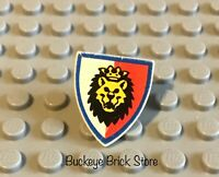 LEGO Castle Knight Minifig Shield Lion Head Pattern 6046 6044 6078 6090 6036