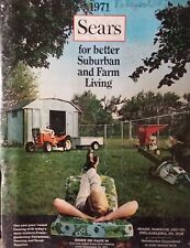 Sears 1971 Suburban Farm Catalog COLOR Riding Custom 8 SS14 Garden Tractor HT/14