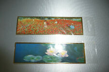 2 Lesezeichen Claude Monet: Wasserlilien, Mohnblumenfeld bei Vétheuil 17x5cm OVP