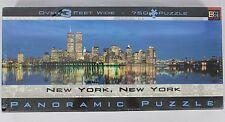 "BGI 2000 Panoramic Puzzle New York, New York 750 Piece 38.25"" x 11.25"" NEW NIB"