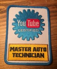 YouTube Certified Mechanic Patch - YouTube Certified Master Auto Technician