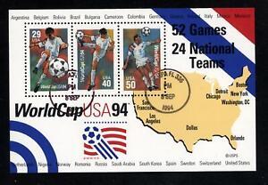 SCOTT 2837 1994 $1.19 WORLD CUP SOCCER SOUVENIR SHEET CTO, VF!