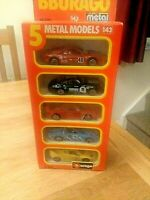 Burago 5 Die Cast Metal Car Set COD.4300 1/43 Scale