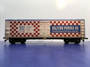 "HO Scale ""Ralston Purina"" 40' Ice Bunker Reefer MRS 4554 Car By Tyco"