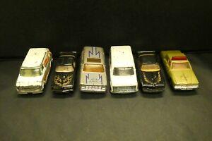 Vtg ERTL Yatming 1/64 Lot of 6 Cars Firebird Bonneville Ford Van Blazer Trans-Am