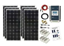 600w Solar Panel Kit 24V battery charging cables brackets K4 MPPT controller
