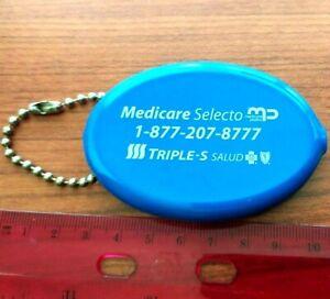Monedero y llavero TRIPLE SSS MEDICARE SELECTO promocion PUERTO RICO coin wallet