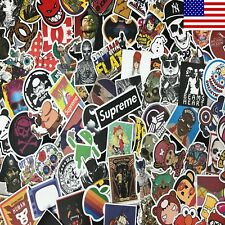 100pcs Cool Skateboard Stickers Bulk Pack Snowboard Vinyl Decor Decals Black