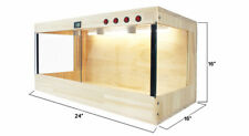 "Wooden Reptiles Turtle Tortoise Enclosure Heating Cage Lizard Snake 24""x16""x16"" ;"