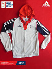 ADIDAS TEAM GB ISSUE - ELITE ATHLETE HOODED SWEATSHIRT - SIZE 34/36