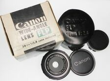 Canon FL-P 38mm f2.8 Pancake for Pellix  #10248 .......... Minty w/Box,Case,Caps